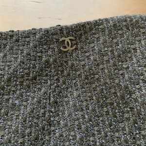 CHANEL tweed wool skirt